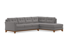 Marco 2pc Sectional Sofa :: Leg Finish: Pecan / Configuration: RAF - Chaise on the Right