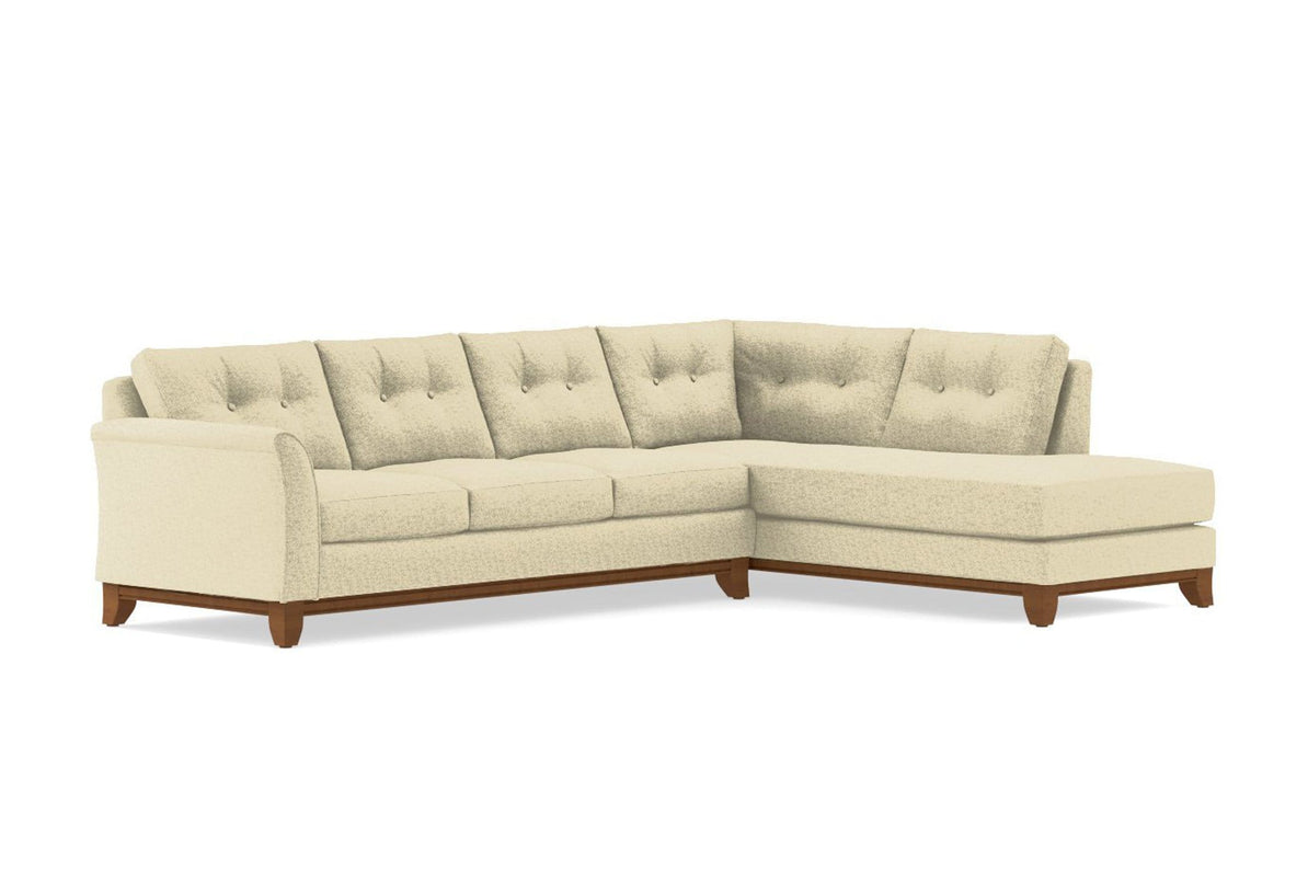 Merveilleux Marco 2pc Sectional Sofa :: Leg Finish: Pecan / Configuration: RAF   Chaise  On The Right