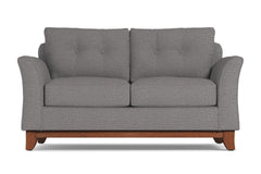 Marco Twin Size Sleeper Sofa :: Leg Finish: Pecan / Sleeper Option: Deluxe Innerspring Mattress