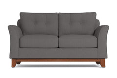 Marco Twin Size Sleeper Sofa :: Leg Finish: Pecan / Sleeper Option: Memory Foam Mattress
