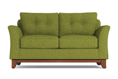 Marco Apartment Size Sleeper Sofa :: Leg Finish: Pecan / Sleeper Option: Deluxe Innerspring Mattress