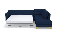 Marco 2pc Sleeper Sectional :: Leg Finish: Natural / Configuration: LAF - Chaise on the Left / Sleeper Option: Memory Foam Mattress
