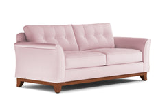 Marco Queen Size Sleeper Sofa :: Leg Finish: Pecan / Sleeper Option: Deluxe Innerspring Mattress