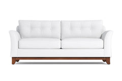 Marco Queen Size Sleeper Sofa :: Leg Finish: Pecan / Sleeper Option: Memory Foam Mattress