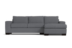 Melrose 2pc Sleeper Sectional :: Leg Finish: Espresso / Configuration: RAF - Chaise on the Right / Sleeper Option: Memory Foam Mattress