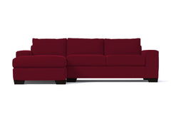 Melrose 2pc Sleeper Sectional :: Leg Finish: Espresso / Configuration: LAF - Chaise on the Left / Sleeper Option: Memory Foam Mattress