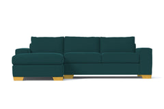 Melrose 2pc Sleeper Sectional :: Leg Finish: Natural / Configuration: LAF - Chaise on the Left / Sleeper Option: Deluxe Innerspring Mattress