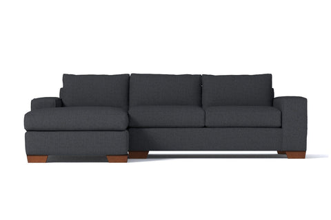 Melrose 2pc Sectional Sofa :: Leg Finish: Pecan / Configuration: LAF - Chaise on the Left