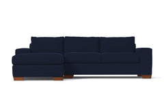 Melrose 2pc Sleeper Sectional :: Leg Finish: Pecan / Configuration: LAF - Chaise on the Left / Sleeper Option: Memory Foam Mattress