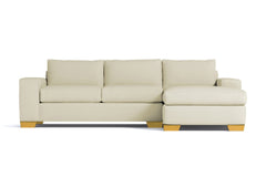 Melrose 2pc Sleeper Sectional :: Leg Finish: Natural / Configuration: RAF - Chaise on the Right / Sleeper Option: Deluxe Innerspring Mattress