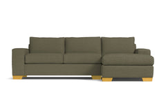 Melrose 2pc Sleeper Sectional :: Leg Finish: Natural / Configuration: RAF - Chaise on the Right / Sleeper Option: Memory Foam Mattress