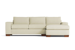 Melrose 2pc Sleeper Sectional :: Leg Finish: Pecan / Configuration: RAF - Chaise on the Right / Sleeper Option: Memory Foam Mattress