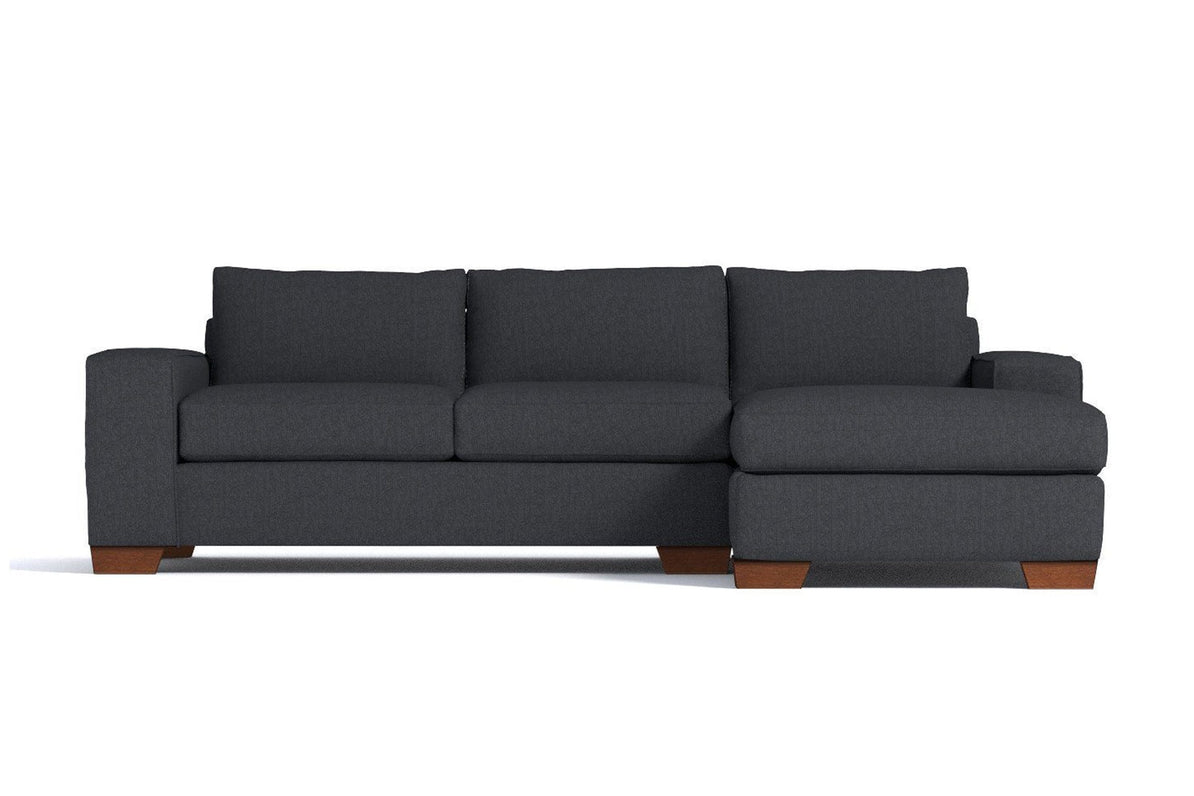 Excellent Melrose 2Pc Sectional Sofa Leg Finish Pecan Configuration Raf Chaise On The Right Inzonedesignstudio Interior Chair Design Inzonedesignstudiocom