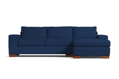 Melrose 2pc Sectional Sofa :: Leg Finish: Pecan / Configuration: RAF - Chaise on the Right