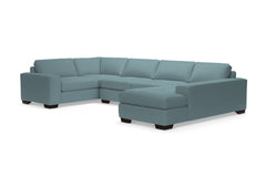 Melrose 3pc Sleeper Sectional :: Leg Finish: Espresso / Configuration: RAF - Chaise on the Right / Sleeper Option: Memory Foam Mattress