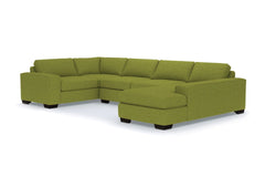 Melrose 3pc Sectional Sofa :: Leg Finish: Espresso / Configuration: RAF - Chaise on the Right