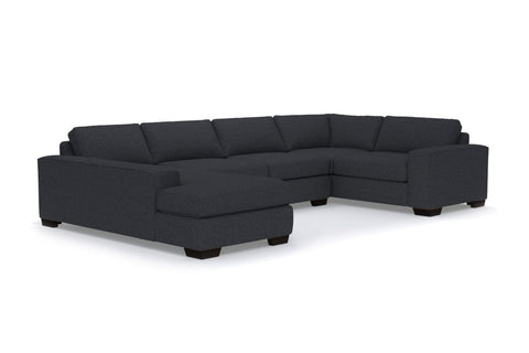 Melrose 3pc Sleeper Sectional :: Leg Finish: Espresso / Configuration: LAF - Chaise on the Left / Sleeper Option: Deluxe Innerspring Mattress