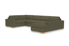 Melrose 3pc Sectional Sofa :: Leg Finish: Natural / Configuration: RAF - Chaise on the Right