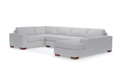 Melrose 3pc Sectional Sofa :: Leg Finish: Pecan / Configuration: RAF - Chaise on the Right