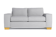 Melrose Twin Size Sleeper Sofa :: Leg Finish: Natural / Sleeper Option: Deluxe Innerspring Mattress