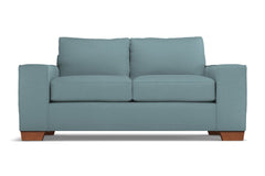 Melrose Apartment Size Sleeper Sofa :: Leg Finish: Pecan / Sleeper Option: Memory Foam Mattress