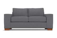 Melrose Apartment Size Sleeper Sofa :: Leg Finish: Pecan / Sleeper Option: Deluxe Innerspring Mattress