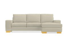 Melrose Reversible Chaise Sleeper Sofa :: Leg Finish: Natural / Sleeper Option: Memory Foam Mattress