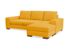 Melrose Reversible Chaise Sofa :: Leg Finish: Pecan