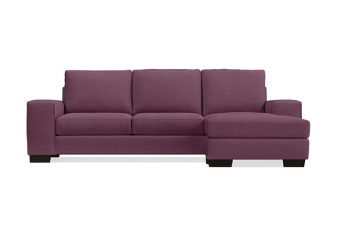 Melrose Reversible Chaise Sleeper Sofa :: Leg Finish: Espresso / Sleeper Option: Deluxe Innerspring Mattress