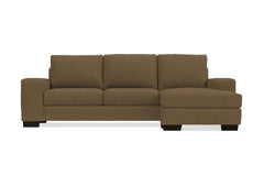 Melrose Reversible Chaise Sofa :: Leg Finish: Espresso