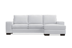 Melrose Reversible Chaise Sleeper Sofa :: Leg Finish: Espresso / Sleeper Option: Memory Foam Mattress
