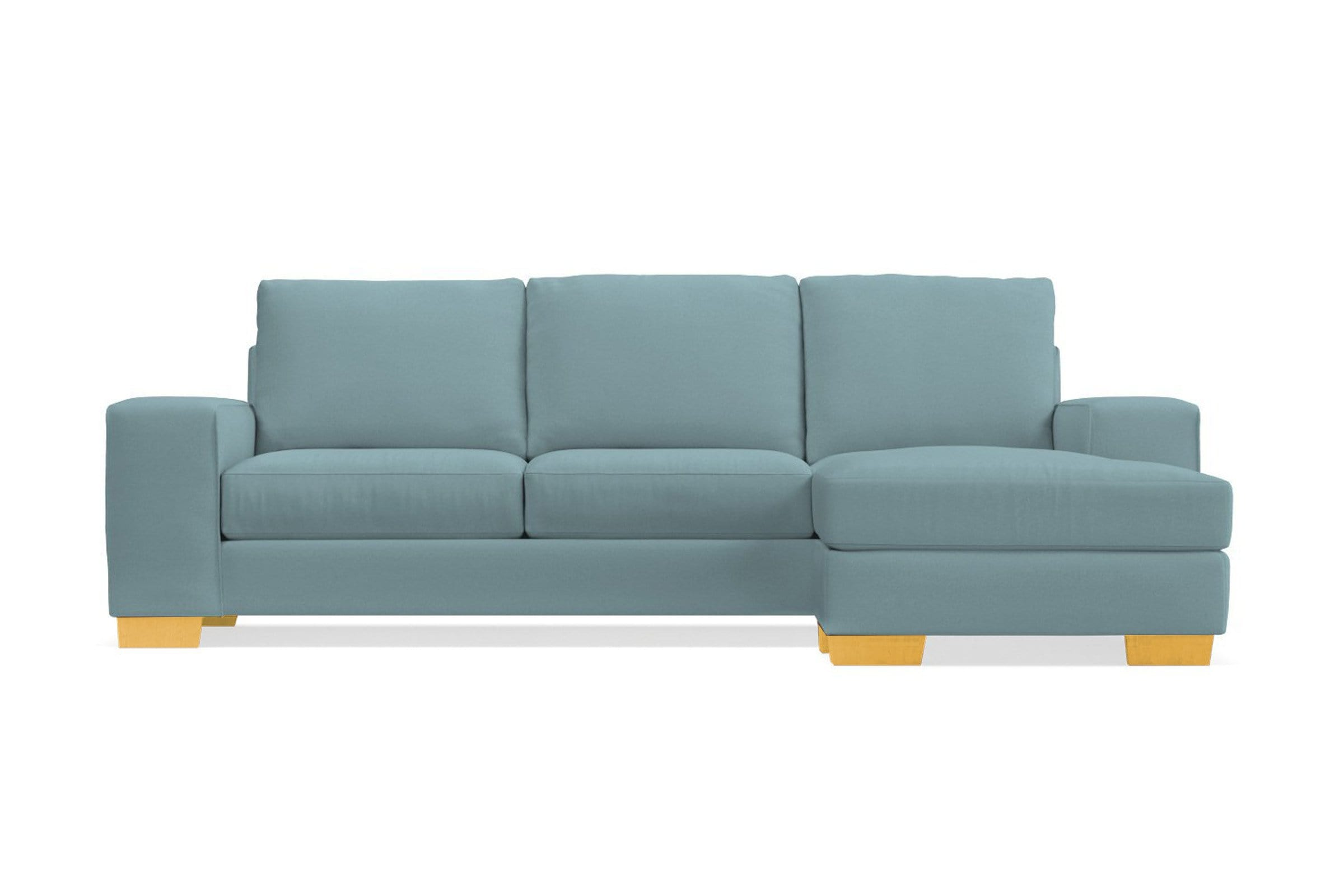 Melrose Reversible Chaise Sleeper Sofa - Blue Velvet -  Pull Out Couch Bed Made in the USA - Sold by Apt2B