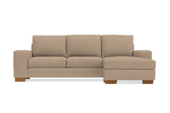 Melrose Reversible Chaise Sleeper Sofa :: Leg Finish: Pecan / Sleeper Option: Deluxe Innerspring Mattress