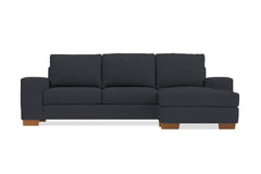 Melrose Reversible Chaise Sleeper Sofa :: Leg Finish: Pecan / Sleeper Option: Memory Foam Mattress