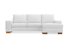 Melrose Reversible Velvet Chaise Sleeper Sofa :: Leg Finish: Pecan / Sleeper Option: Deluxe Innerspring Mattress
