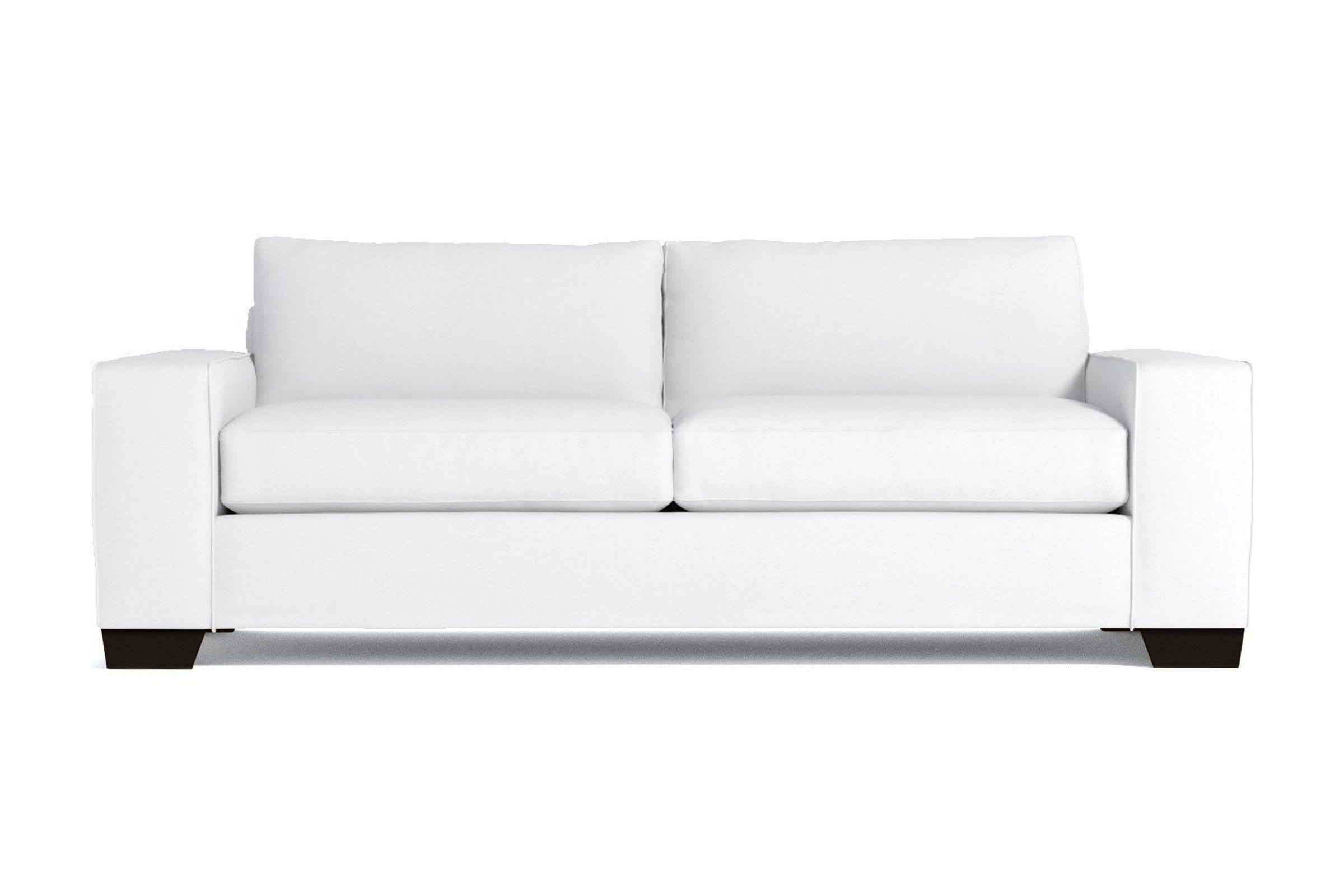 Melrose Sofa - White Velvet - Modern Couch Made in the USA - Sold by Apt2B