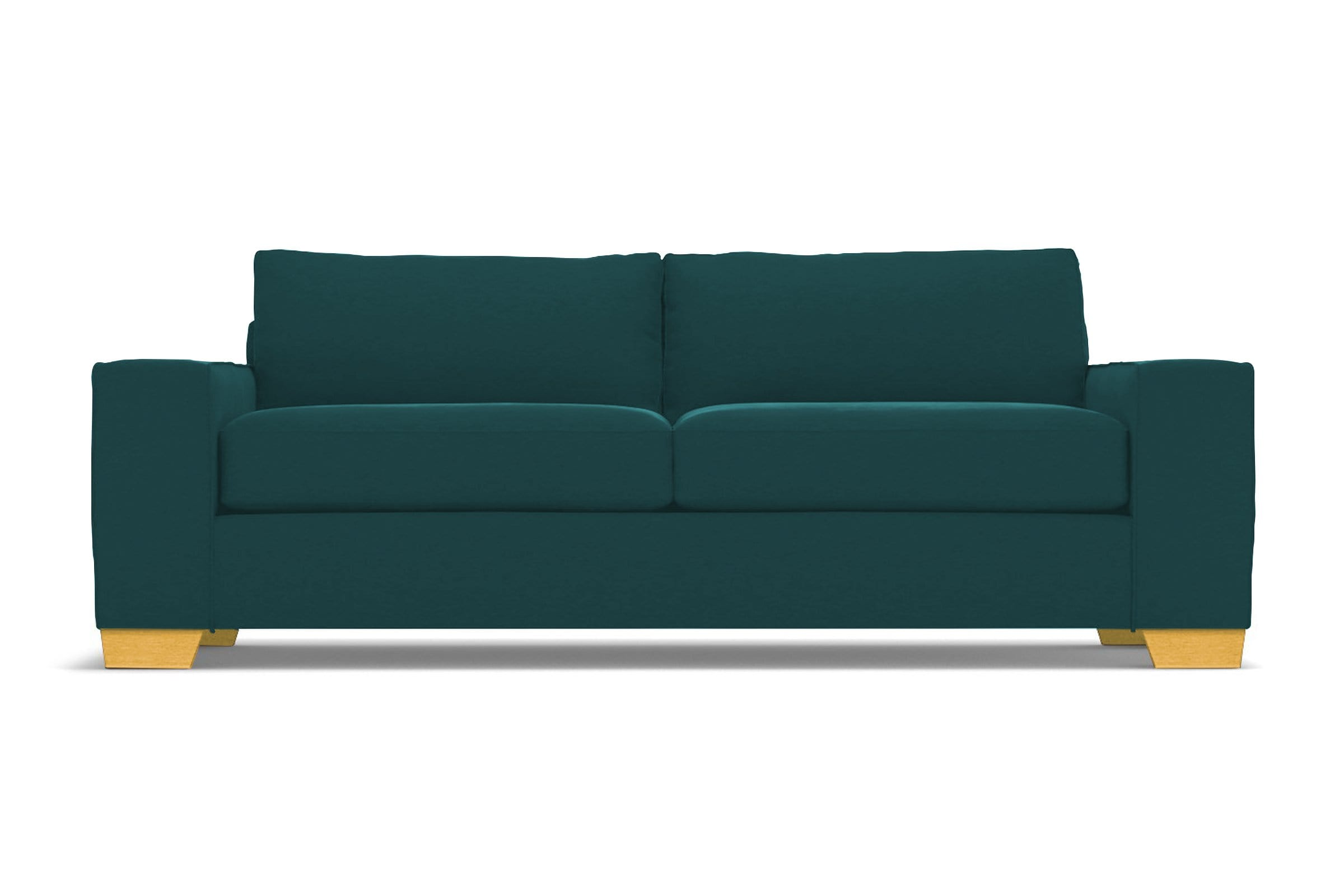 Melrose Sofa - Green Velvet - Modern Couch Made in the USA - Sold by Apt2B
