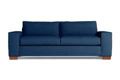 Melrose Queen Size Sleeper Sofa :: Leg Finish: Pecan / Sleeper Option: Deluxe Innerspring Mattress