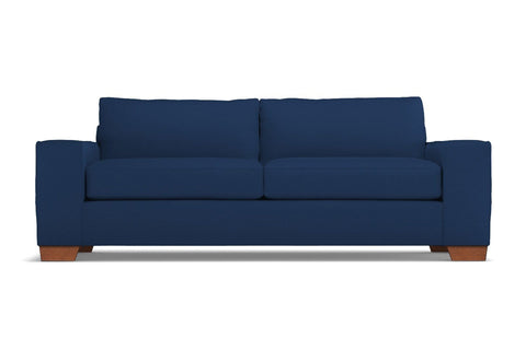 Melrose Queen Size Sleeper Sofa :: Leg Finish: Pecan / Sleeper Option: Memory Foam Mattress