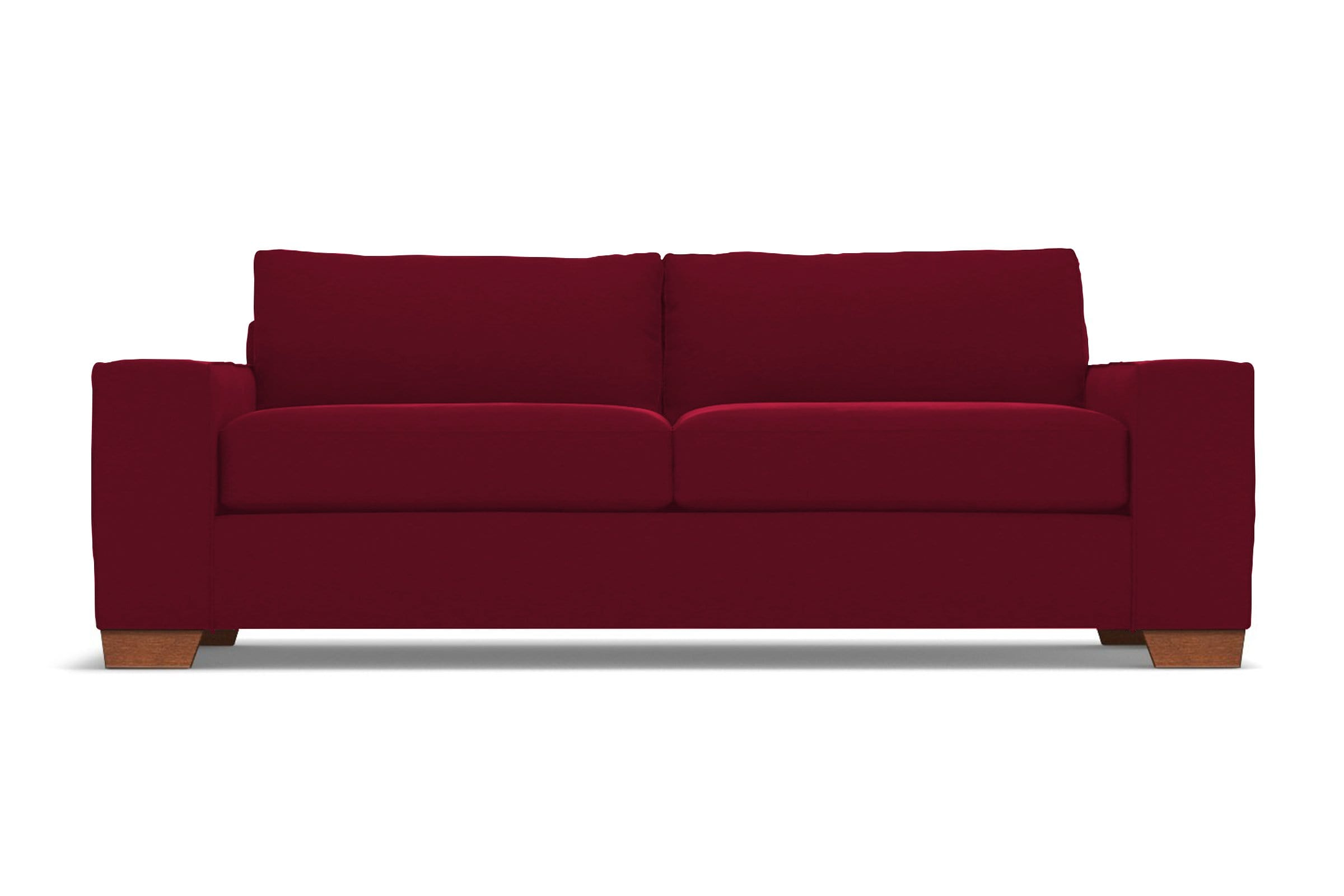 Melrose Sofa - Red Velvet - Modern Couch Made in the USA - Sold by Apt2B
