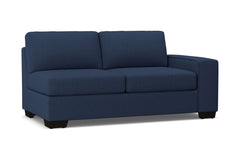 Melrose Right Arm Apartment Size Sofa :: Leg Finish: Espresso / Configuration: RAF - Chaise on the Right