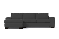 Melrose 2pc Sleeper Sectional :: Leg Finish: Espresso / Configuration: LAF - Chaise on the Left / Sleeper Option: Deluxe Innerspring Mattress