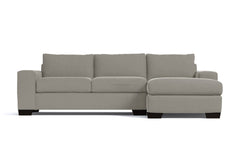 Melrose 2pc Sectional Sofa :: Leg Finish: Espresso / Configuration: RAF - Chaise on the Right