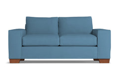 Melrose Twin Size Sleeper Sofa :: Leg Finish: Pecan / Sleeper Option: Deluxe Innerspring Mattress