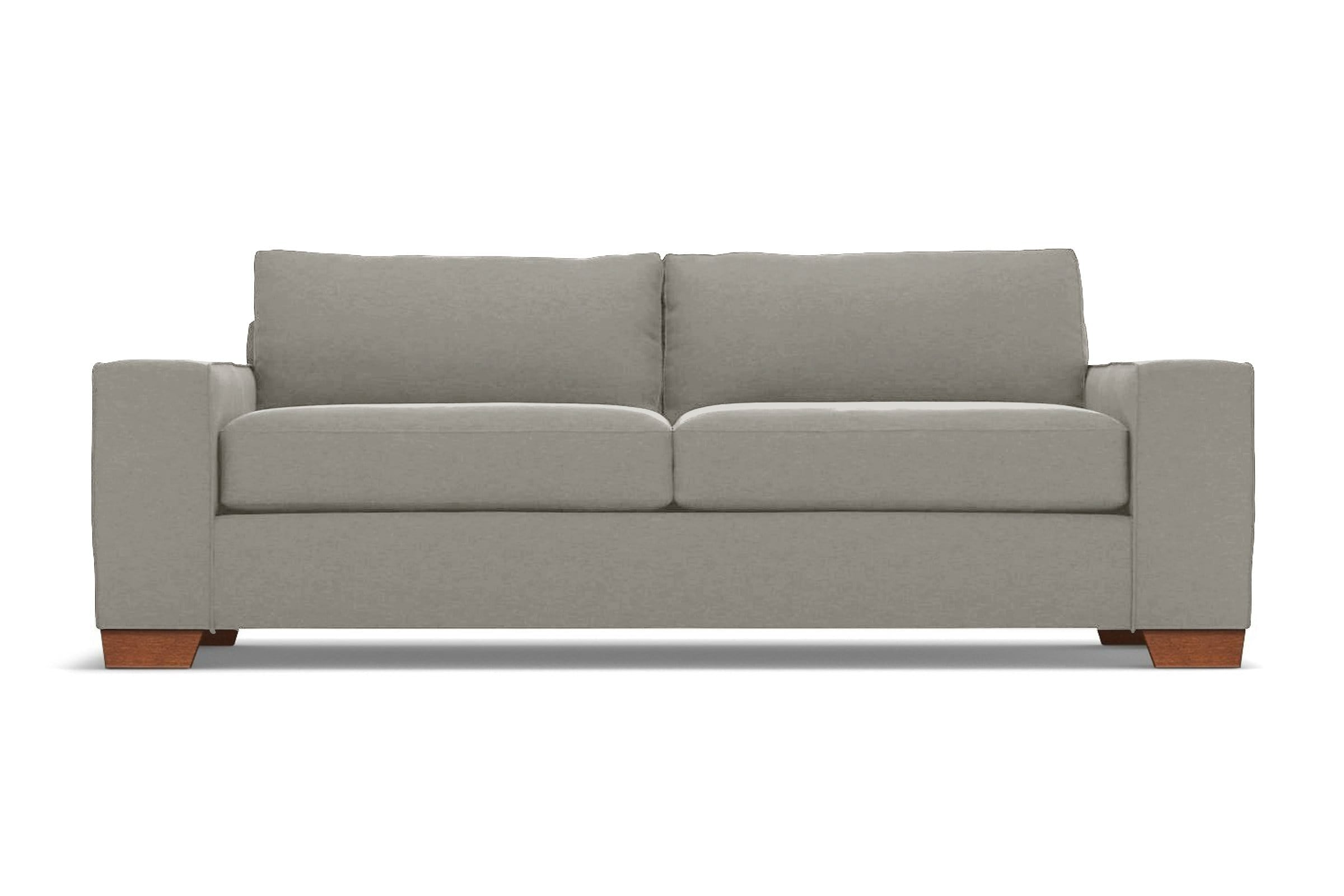 Melrose Sofa - Tan Velvet - Modern Couch Made in the USA - Sold by Apt2B