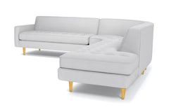 Monroe 3pc Sectional Sofa :: Leg Finish: Natural / Configuration: RAF - Chaise on the Right