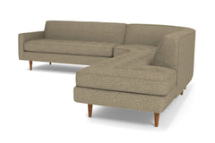 Monroe 3pc Sectional Sofa :: Leg Finish: Pecan / Configuration: RAF - Chaise on the Right