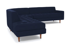 Monroe 3pc Sectional Sofa :: Leg Finish: Pecan / Configuration: LAF - Chaise on the Left