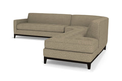 Monroe Drive 3pc Sleeper Sectional :: Leg Finish: Espresso / Configuration: RAF - Chaise on the Right / Sleeper Option: Deluxe Innerspring Mattress