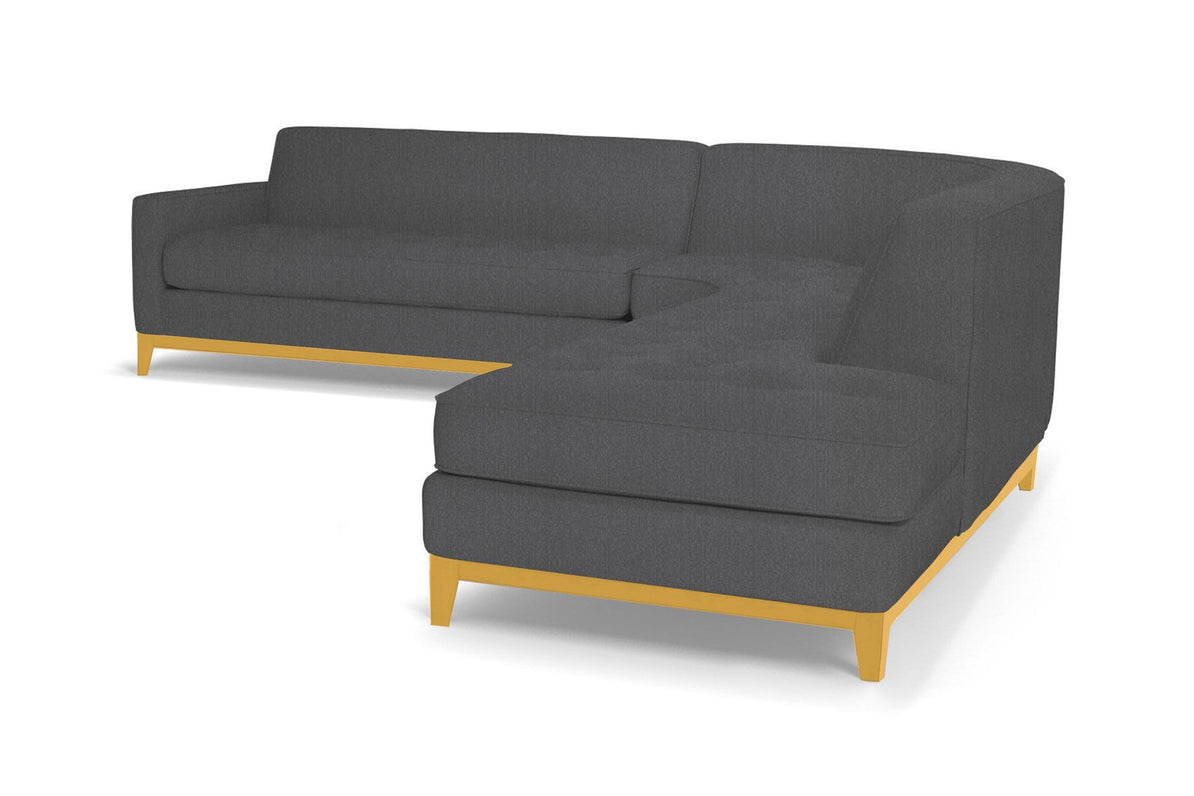 Monroe Drive 3pc Sectional Sofa :: Leg Finish: Natural / Configuration: RAF  - Chaise on the Right